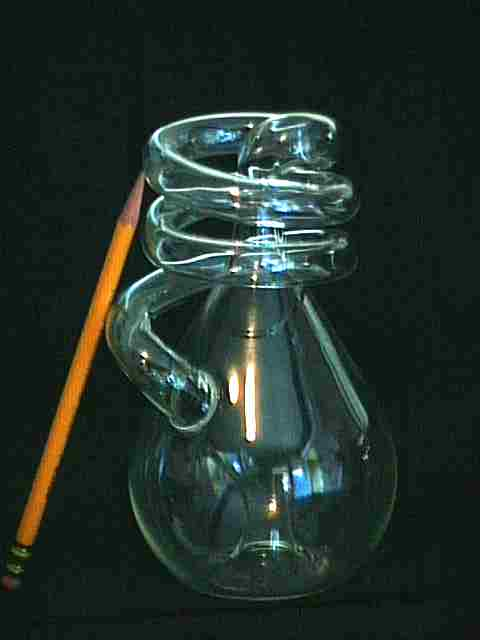 With its side loop spiralling around, this Klein Bottle is slightly taller than a pencil